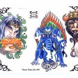Татуировки дракона, девушек, цветов и прочего