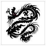 Эскизы татуировок креста, дракона, черепа — 20 фото