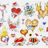 Цветные эскизы татуировок 90-х