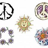 Татуировки солнце и луна — 15 фото