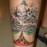 Татуировки 3D на ноге (tattoo legs) — 22 фото