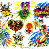 Эскизы татуировки 3D 90-х