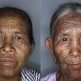 Татуировки на лице женщин народности Чин