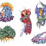 Цветные татуировки эскизы — 25 фото
