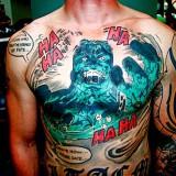 Татуировки комиксы — 42 фото