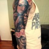 Татуировки: женские портреты — 13 фото