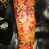 Татуировка: осенняя бабочка