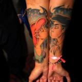 Парные татуировки на руках: мульфильм «Русалочка»