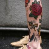 Татуировка роза — 8 фото