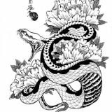 Эскизы черной змеи 2013 — 8 фото
