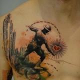 Необычайные татуировки сердца — 7 фото