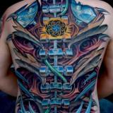 Яркая биомеханика на спине
