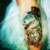 Татуировки динозавры — 7 фото