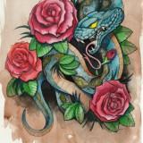 Цветные эскизы змей 2013 — 9 фото