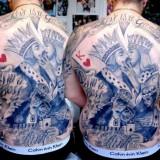 Карточные короли на спине