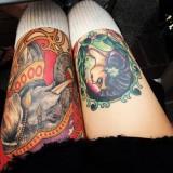 Красивые татуировки на женских ногах — 6 фото