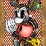 Цветные эскизы героев мультфильмов — 4 фото