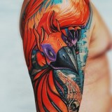 Татуировки птицы Феникс — 6 фото