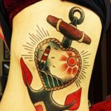 Татуировки якорь — 6 фото