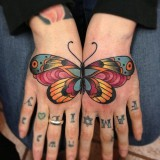 Тату бабочки — 6 фото