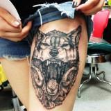 Татуировка: волк — 6 фото