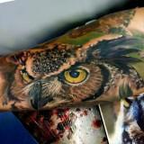 Реалистичные татуировки животных — 9 фото