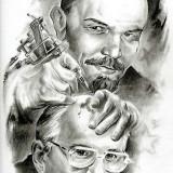 Ленин набивает татуировку на голову Горбачева
