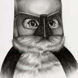Кот в маске Бэтмена