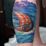 Корабль на ноге