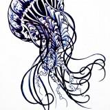 Эскизы татуировок медузы (6 фото)