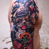 Морская татуировка на правой руке