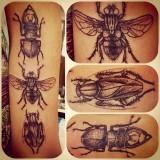 Татуировки жуков на теле