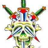 Значение татуировки с кинжалом
