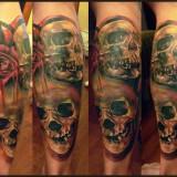 Черепа на татуировке