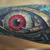 Тату-биомеханика: глаз на руке