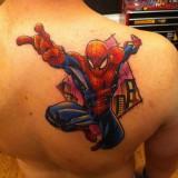 Татуировка Спайдермена