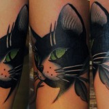 Татуировки животных: коты (2 фото)