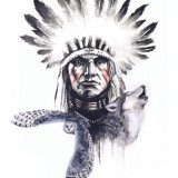 Эскизы индейца