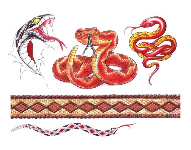 змея татуировка