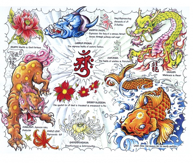 эскизы татуировок цветные (24)