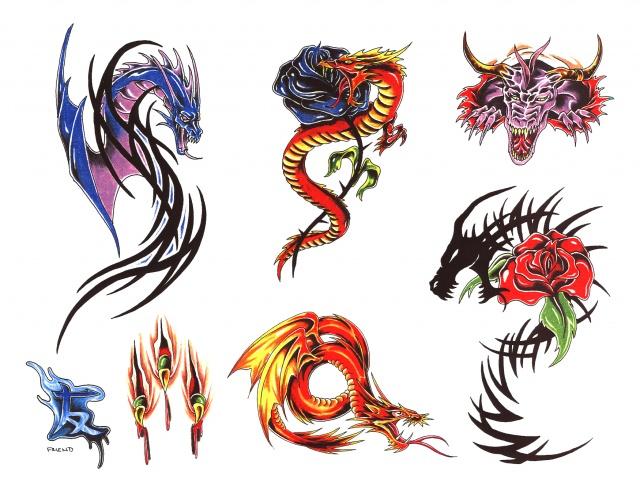 эскизы татуировок цветные (21)