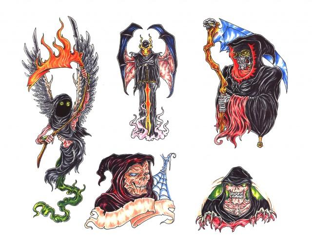 татуировки эскизы смерть