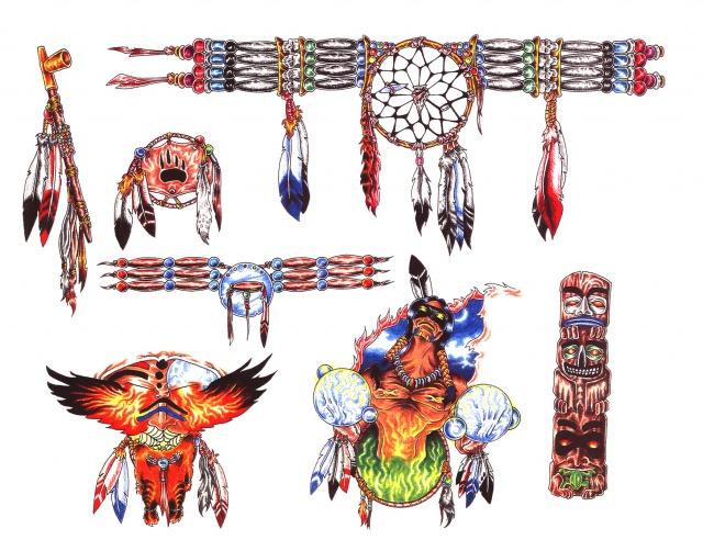 татуировки эскизы индейцы