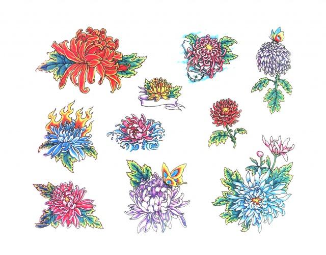 эскизы татуировок цветные (18)
