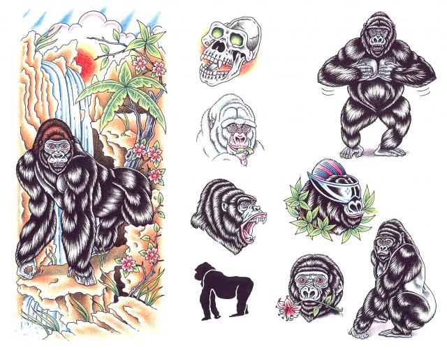 эскизы татуировок обезьяна