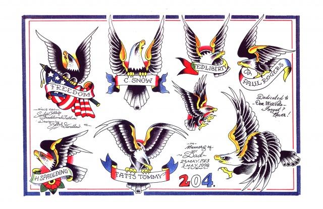 эскизы татуировок орла