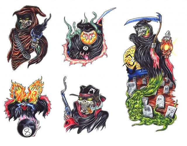 эскизы татуировок смерть