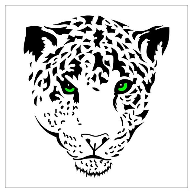 эскизы тату черно-белые тигр