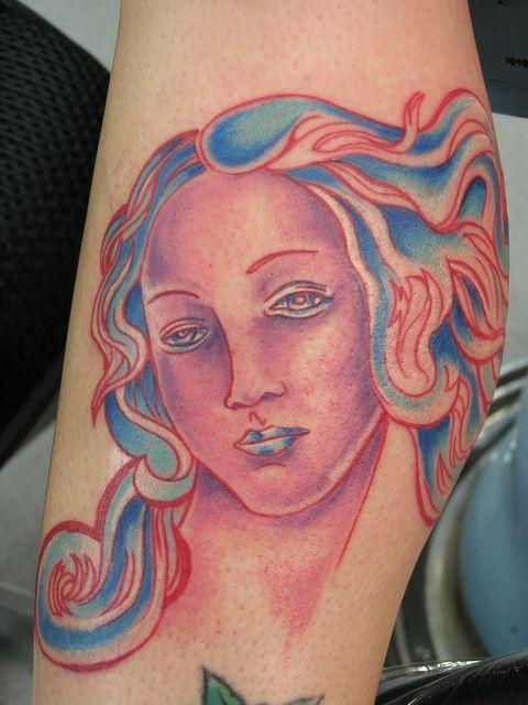 татуировки на ноге (22)