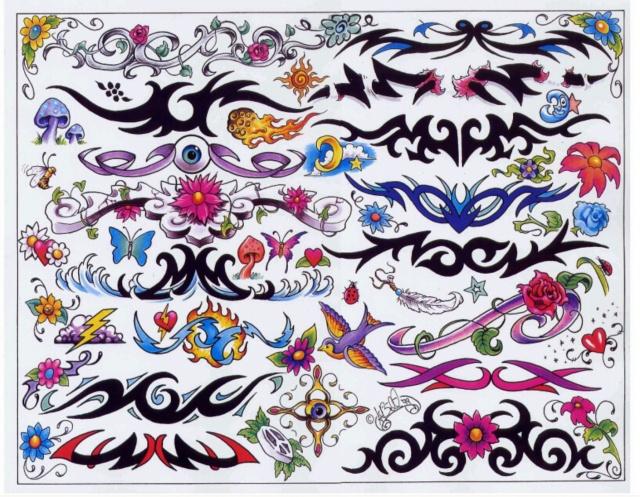эскизы татуировок цветные (8)